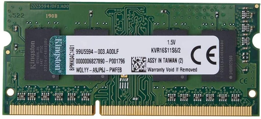 KINGSTON VALUERAM Best 2GB DDR3 Ram For Laptop With 1600Mhz